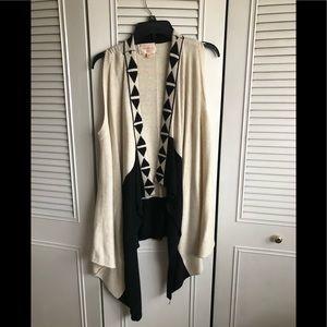 Knit pattern vest by Skies are Blue, size M